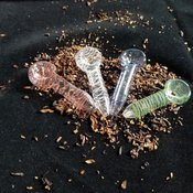 One Hitter 2 pack Glass 2.5 inch Chillum pipe